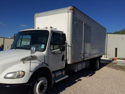 $67,975, Freightliner, 24 box truck wCat motor 107,478 miles and PTO Driven Insulation Blow machine