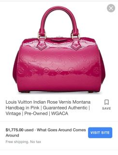 2200 Louis Vuitton Bag Montana for just 670!