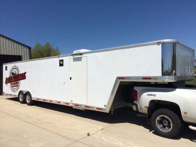 2003 exiss 40ft aluminum race trailer