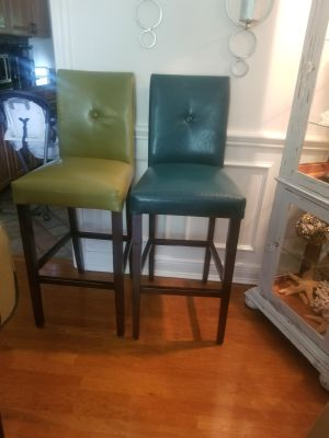 Leather Pier One bar stools