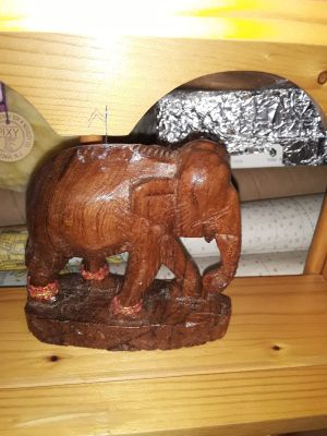 Vintage wooden elephant