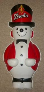 Stroh's Snowman Store Display