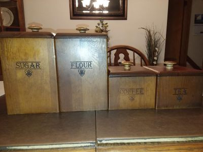 Wood Canister set