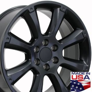 "Purchase 22"" Fits Cadillac Escalade Style Wheel Matte Black 22x9 SET W1x motorcycle in Sarasota, Florida, United States, for US $709.00"