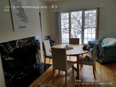 Vintage 3bed  2bath apt hdwd, fp, dw, w/d, ctrl air, eL (Wicker park)