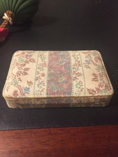 Vintage fabric jewelry/sewing box