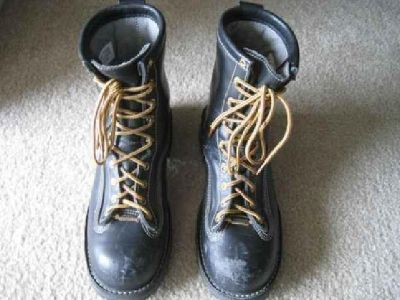 $275 Danner Boots - Super Rain Forest Size (9), Non-Metallic Safety Toe -