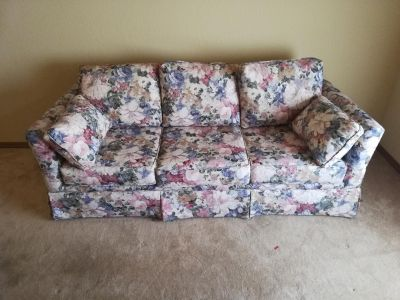 Couch with hide a bed.