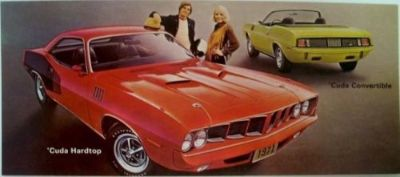 Find NOS Mopar 1971 Plymouth Cuda Hardtop & Convertible Dealer Post Card motorcycle in Holts Summit, Missouri, United States