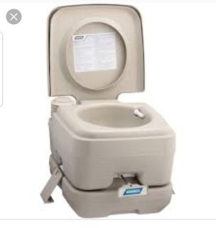 Portable toilet great for camping!