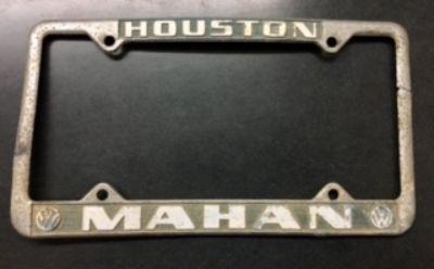 VW-License Plate Frame-Mahan-Houston