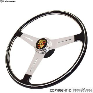 Steering Wheel With Porsche Horn Button, 400mm