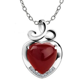 Red Heart Pendant & Necklace + Free Shipping