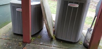 Lennox 2 ton ac with ground pad 2 1/2 ton available as well