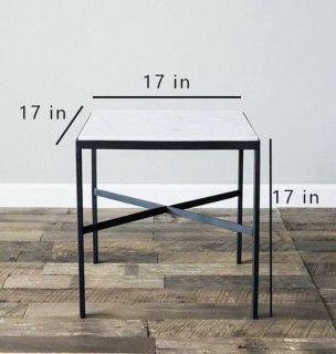 Iron and Marble top end tables
