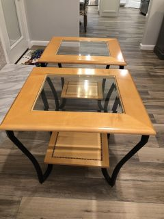 (1) Coffee Table and (2) End Table
