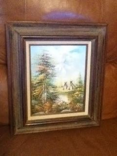 Creative Art Gallery Tepee Oil Painting Picture