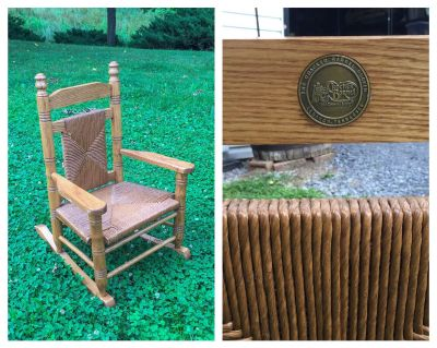 Cracker Barrel Hardwood Woven Child Rocking Chair, nice condition, asking $60 (cost $120) **READ PICK-UP DETAILS BELOW