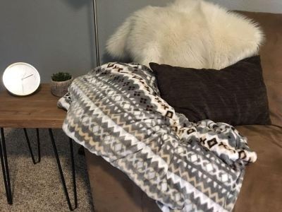 Throw and pillow for sale