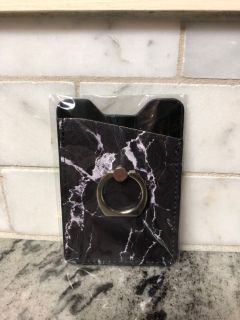 NEW cell phone pocket with ring for easy holding ($5 Retail) $3