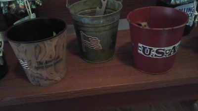 Bar Ware Beer Bottle Openers in Patriotic  Buckets