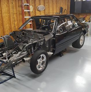 86 small tire mustang Stock suspension