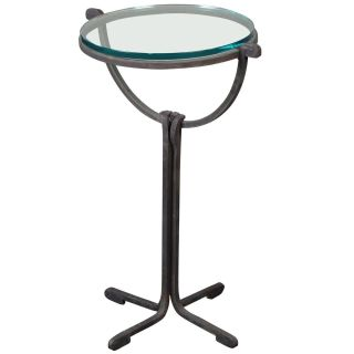 Chapman 1989 Hand Forged Iron Base Drink Table