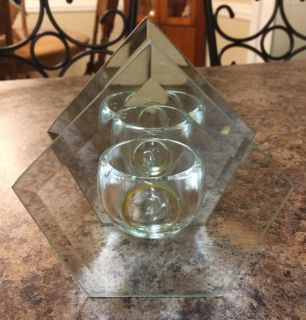 Mirrored Votive Candle Holder