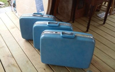 Vintage Samsonite Hard Case Suitcase Set of 3