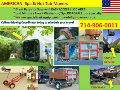 OC Hot Tub & Spa Movers --- Unwanted Jacuzzi Removals