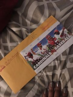 Two Tickets to St. Louis and Pirates Game