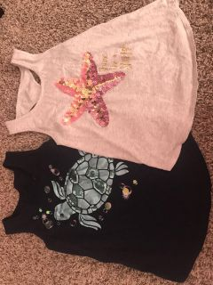 2 Justice tank tops size 8