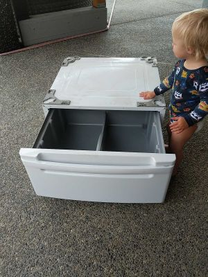 New lg storage unit for front load washer or dryer