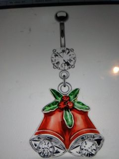 Christmas bells belly ring