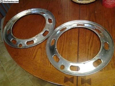 2 Old O.G German VW Type3 Trim Rings