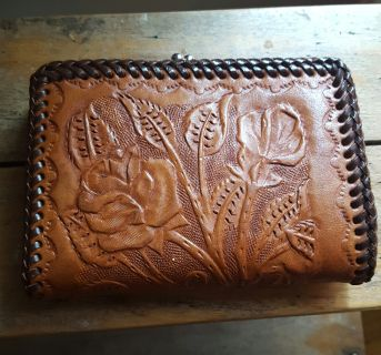 Rose Leather Wallet