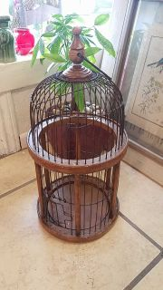 wood & metal bird cage...$15