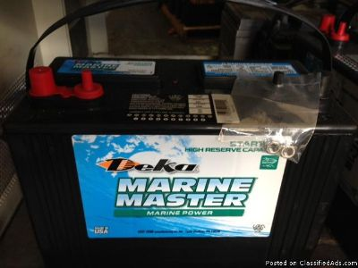 Marine batteries $60