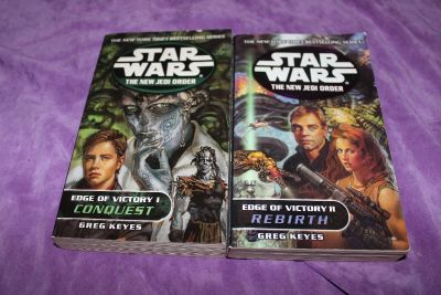 2 Star Wars New Order Books: Edge of Victory 1: Conquest and Edge of Victory II: Rebirth. Paperbacks by Greg Keyes