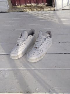 All White Low Air Force One's