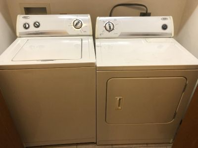 Whirlpool washer and dryer- electric