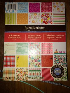 Recollections All Seasons cardstock pack. Few pages may be missing