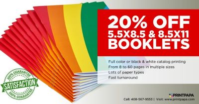 Avail 20% Off on Booklets and Catalogs Printing from PrintPapa