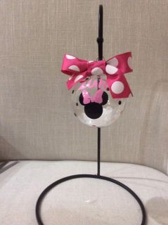 Minnie or Mickey personalized Christmas ornament