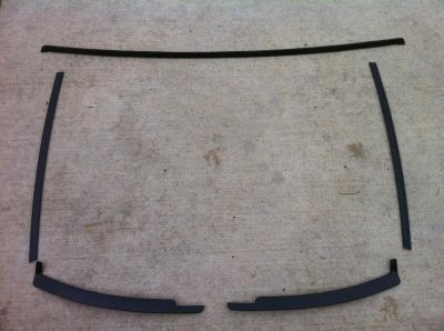 Purchase 79-86 87-93 Ford Mustang Front Windshield Metal Window Trim Unbent Restored NICE motorcycle in Conneaut, Ohio, US, for US $109.99