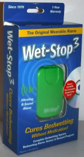 New! Wet-Stop3 Bedwetting Sensor Alarm & Vibration, Enuresis Potty Training