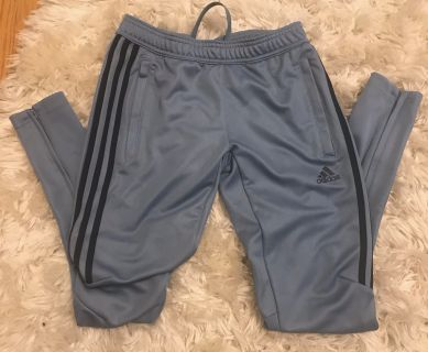 Girls Gray adidas pants