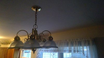 Brass 5 light pendant chandelier $20 OBO