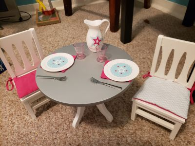 American Girl Doll Table/Chairs & Accessories