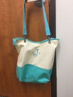 Thirty one tote with J initial